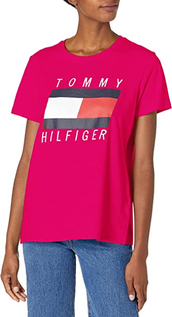 Tommy Hilfiger Women's Crew Neck Logo Tee