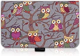 Thankscase ASUS MeMO Pad 7 ME176CX Case Cover Built-in Elastic Hand Strap slim Lightweight Smart Owls Canvas Case Smart Cover for ASUS MeMO Pad 7.(Grey Owls)