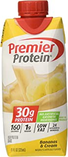 Premier Nutrition Protein Shakes, Bananas/Cream, 18 Count