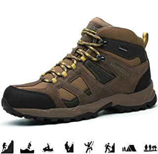 HIFEOS Hiking Boots Leather Trekking Shoes Outdoor Waterproof Backpacking Shoes