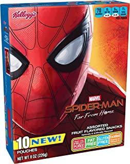 Spiderman, Fruit Flavored Snacks, Assorted Fruit Flavored, Gluten Free, Fat Free, 8oz Box(Pack of 8)