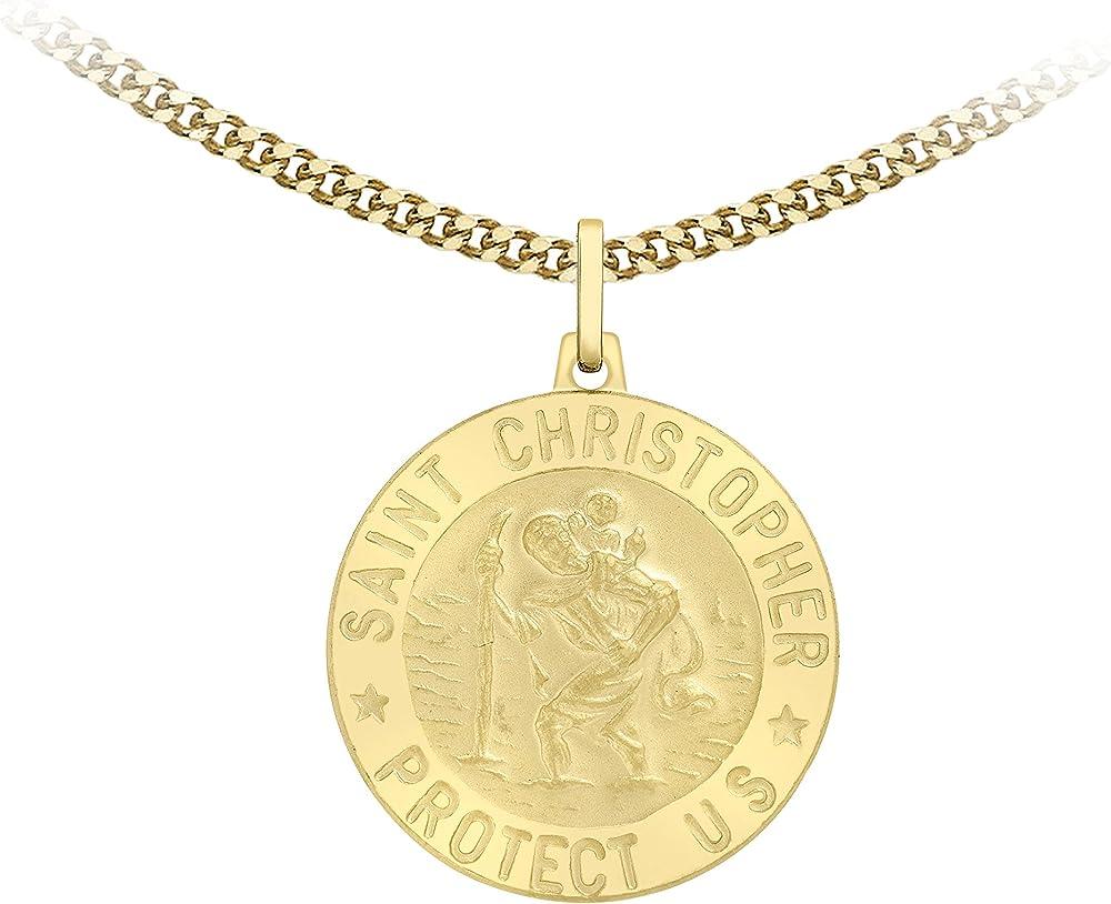 Carissima gold collana con pendente unisex in oro giallo 9k (375) 1.42.8675