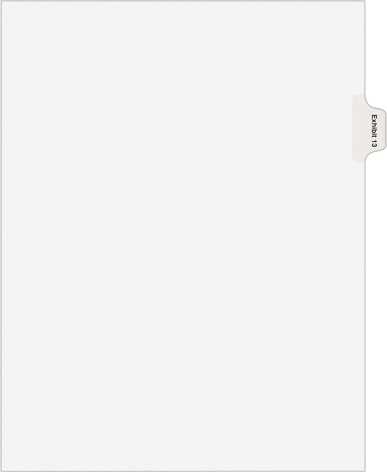 Avery 82145 Sale price Index Divider Exhibit 13 Side Max 47% OFF Tab 25 White PK