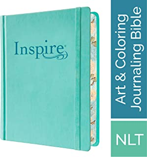 Tyndale NLT Inspire Bible (Hardcover, Aquamarine): Journaling Bible with Over 400 Illustrations to Color, Coloring Bible w...