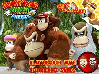 Donkey Kong Country Tropical Freeze Multiplayer Playthrough with Cottrello Games