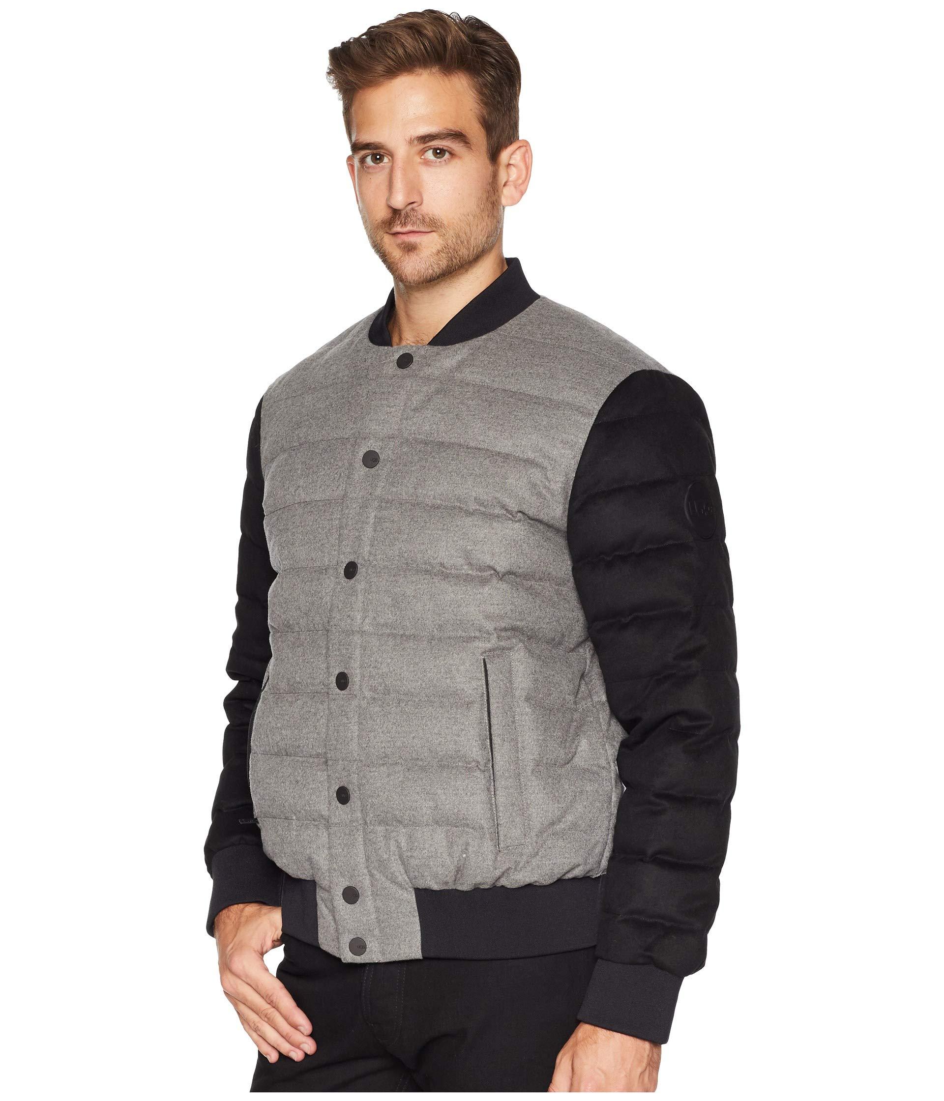 Medium Gavin Grey Jacket black Wool Bomber Ugg Heather qpxZfOw
