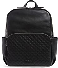 Vera Bradley Leather Carryall Backpack, Black