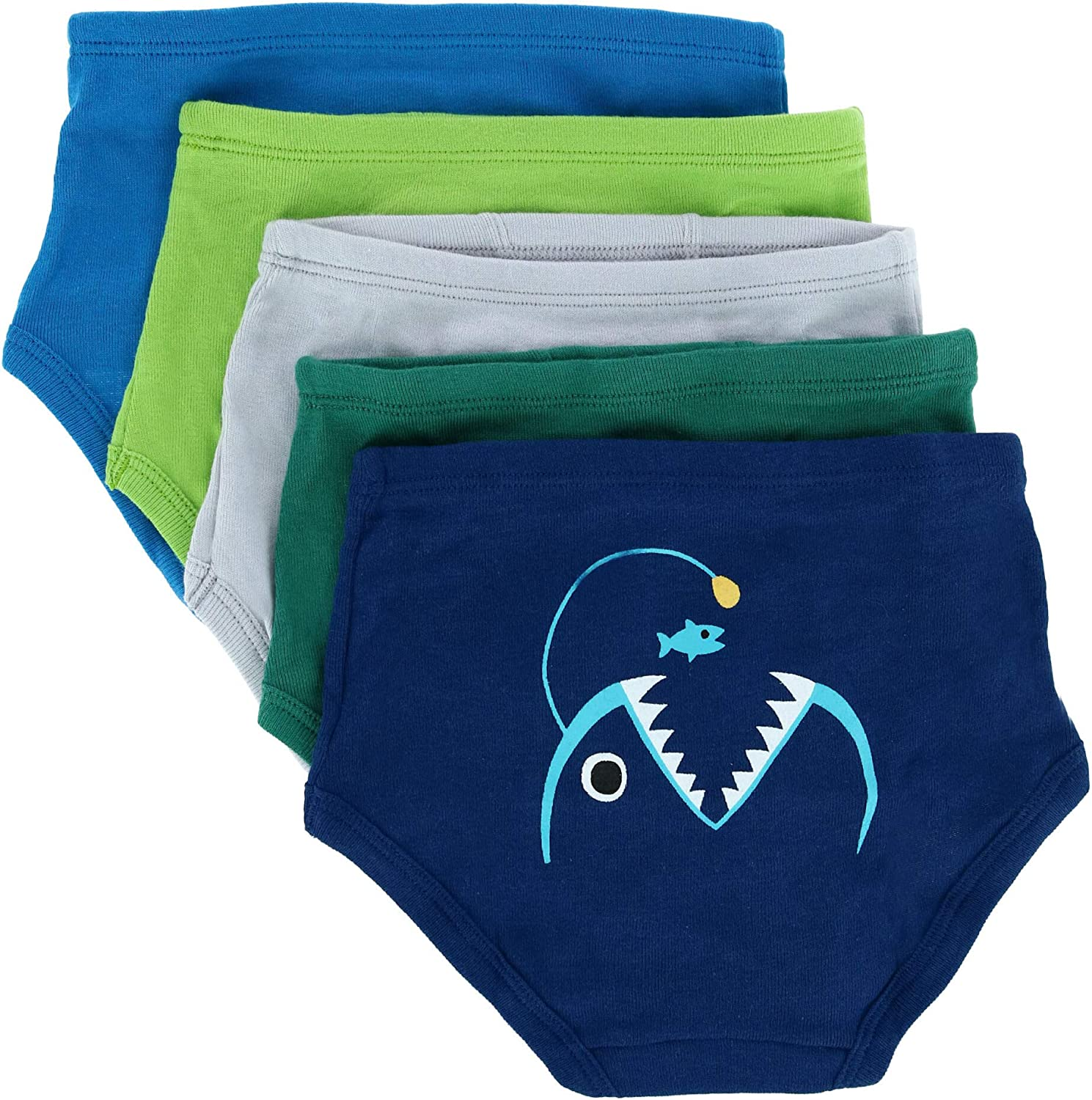 Only Boys Toddler Boy's Assorted Shark and Dino Print Briefs, 4T, Assorted