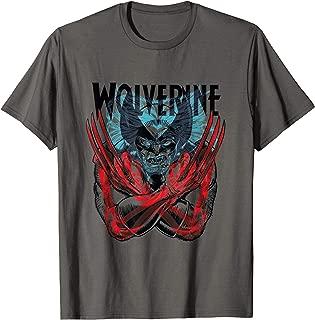 Marvel X-Men Mutant Wolverine Claws X-Ray Retro T-Shirt