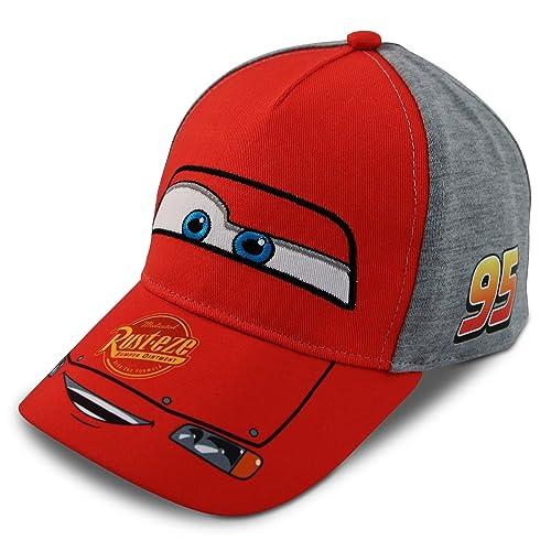 b6e13635071d1 Disney Little Boys Cars Lightning McQueen Character Cotton Baseball Cap