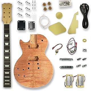 Left-handed Electric Guitar Kits For okoume Body neck & composite ebony fingerboard
