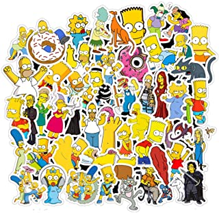 (Simpson Family) - 100PCS Simpson Family Vinyl Waterproof Stickers Computer Car Skateboard Motorcycle Bicycle Luggage Guit...