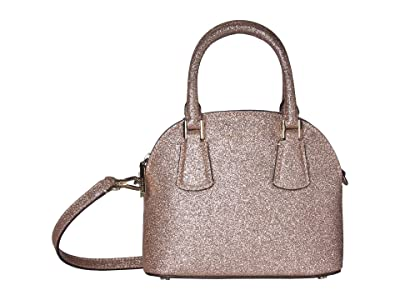 Kate Spade New York Sylvia Glitter Mini Dome Satchel (Pink Champagne) Bags