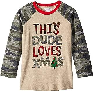 Mens Camo Christmas Long Sleeve Raglan T-Shirt (Infant/Toddler)