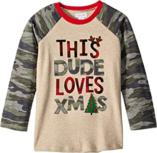 Mud Pie Mens Camo Christmas Long Sleeve Raglan T-Shirt (Infant/Toddler)