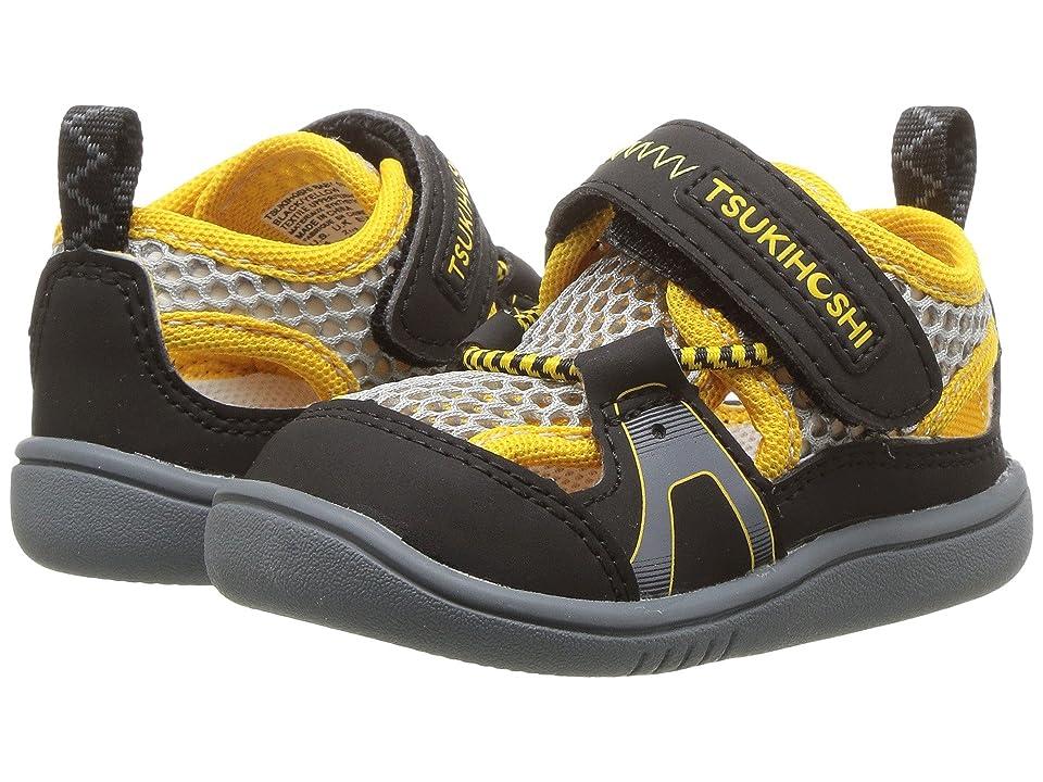 Tsukihoshi Kids Ibiza 2 (Toddler) (Black/Yellow) Boys Shoes
