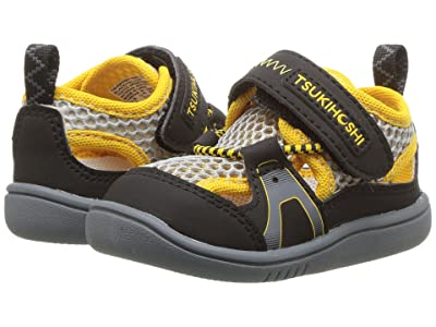 Tsukihoshi Kids Ibiza 2 (Toddler) (Black/Yellow) Boys Shoes