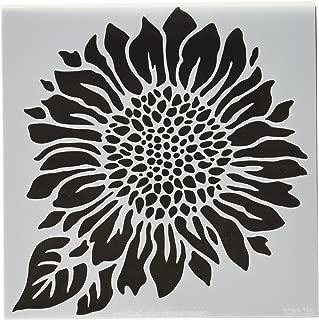 CRAFTERS WORKSHOP TCW6X6-575 Joyful Sunflower Template, 6 by 6