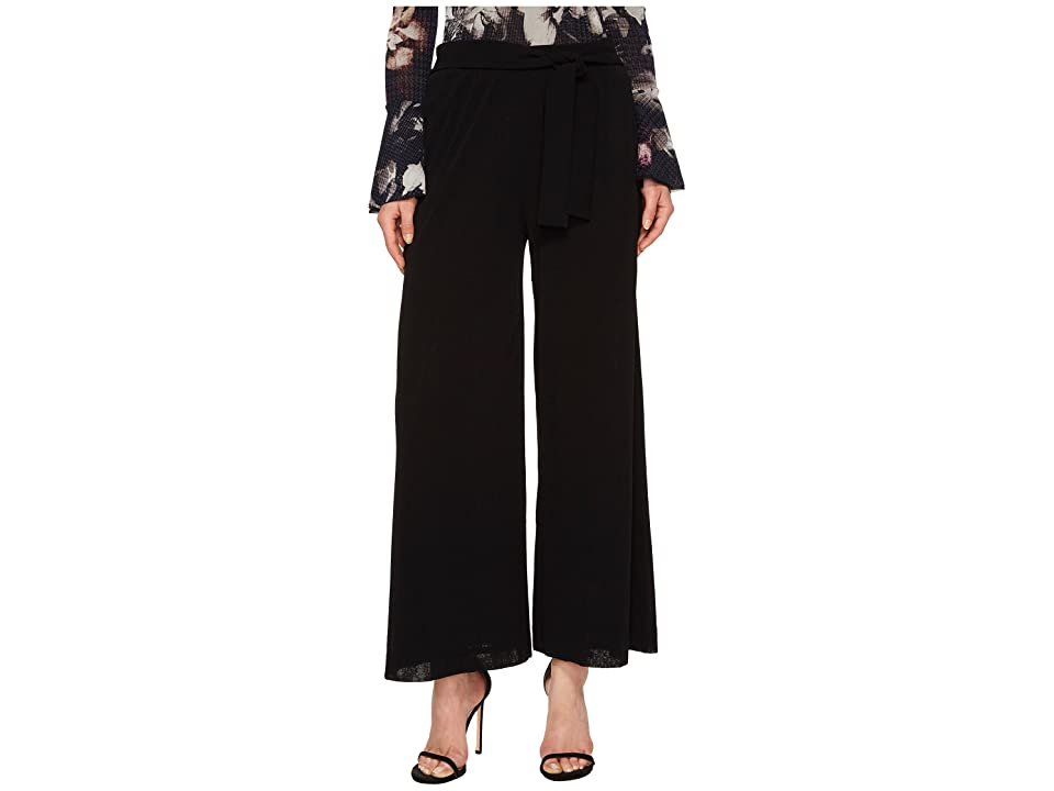 FUZZI Solid Belted Karate Pants Cover-Up (Nero) Women
