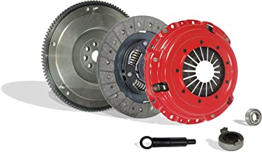 Clutch With Flywheel Kit Works With Acura Integra Civic Si Del Sol Cr-V Gs Ls Ex Lx Type R Gs-R VTEC Special 1994-2001 1.6L L4 1.8L l4 GAS DOHC Naturally Aspirated (Flywheel Spec: .112+; Stage 1)
