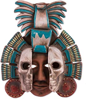NOVICA 243723 Life and Death in Teotihuacan' Ceramic mask