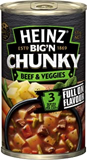 Heinz Big 'N Chunky Beef and Vegetable Canned Soup, 535g
