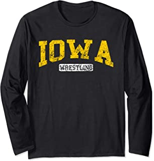 Vintage Iowa Classic Wrestling Freestyle Long Sleeve T-Shirt