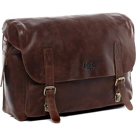 Sid Vain Aktentasche Echt Leder Eton Xl Groß Businesstasche 15 6 Laptop Bürotasche Laptoptasche Laptopfach Ledertasche Herren Braun Koffer Rucksäcke Taschen