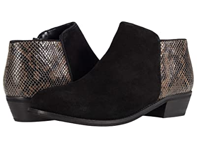 SoftWalk Rocklin (Black Snake/Suede) Women