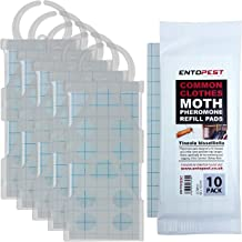 Entopest 5 x Professional Common Clothes Moth Traps & 10 Pheromone Glue Boards