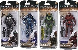 Halo 5: Guardians Series 2 Spartan Athlon, Buck, Hermes, Helljumper Action Figures Set of 4