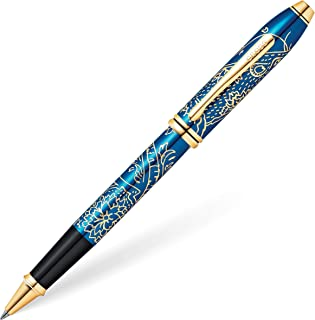 Cross Townsend 2020 Year of the Rat Special Edition Translucent Blue Lacquer w/ 23KT Gold Plated Inlays and Appointments Rollerball Pen