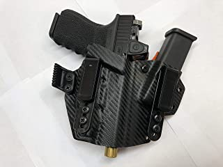 IronXHolsters AIWB/IWB Sidecar Style Kydex Holster - Glock 17/19/19x/23/45/22/26 MOS Compatible with OLight PL Mini 2