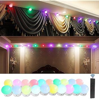 SICCOO RGB Decorative String Lights, Colorful Strip Lights with 20 Bulbs, Dimmable LED Strip Light Bulb USB Powered