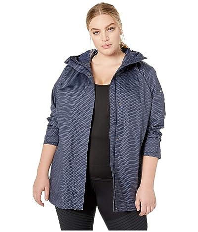 Columbia Plus Size Splash A Little II Rain Jacket (Nocturnal Mini Hex Print) Women