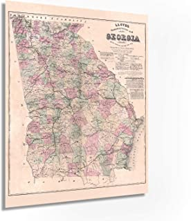 Historix 1864 Georgia Map 24x30 Inch