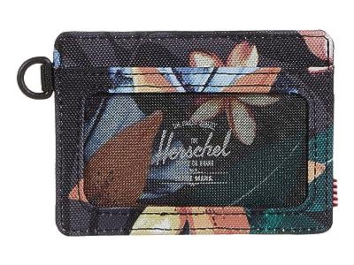 Herschel Supply Co. Charlie ID RFID (Summer Floral Black) Wallet Handbags