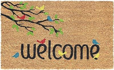 "Rugsmith Multi Welcome Birds Machine Tufted Doormat, 18"" x 30"", Natural"