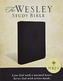 NRSV Wesley Study Bible - Charcoal Bonded Leather: New Revised Standard Version