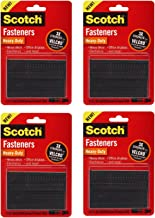 3M Scotch Heavy-Duty Fasteners, 8 Sets of 1 Inch x 3 Inches Strips, Black, 4 Pack (RFD7091)