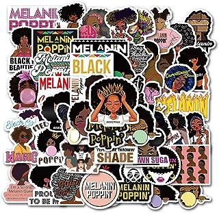 Music Star Melanin Poppin Stickers Pack 50 Pcs Singer Sticker Vinyl Decals for Car Bumper Helmet Luggage Laptop Water Bott...