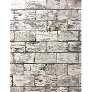 Rustic White Brick Look 4x8 Porcelain Tile Wall Floor Kitchen Box Of 34 Amazon Com