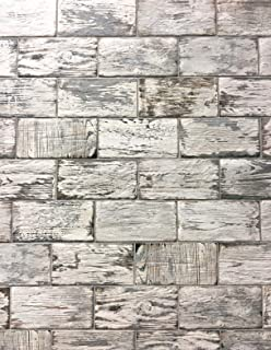 Rustic White Brick Look 4x8 Porcelain Tile Wall Floor Kitchen (Box of 34)