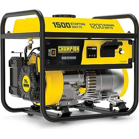 Champion Power Equipment 200915 1500/1200-Watt Portable Generator, CARB