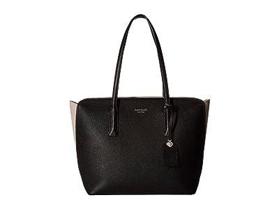 Kate Spade New York Margaux Medium Tote (Black/Warm Taupe) Handbags