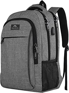 MATEIN Travel Laptop Backpack, Work Bag Lightweight Laptop Bag with USB Charging Port, Anti Theft Business Backpack, Water...
