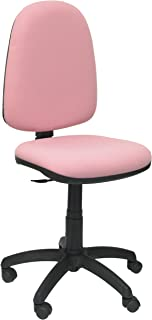 comprar comparacion Piqueras y Crespo 04CP - Silla de Oficina ergonómica, Asiento y Respaldo tapizados en Tejido Bali, Color Rosa pálido