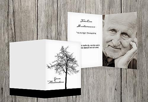 Los mejores precios y los estilos más frescos. Sterbe imágenes Tree, negro, 40 Karten Karten Karten  alto descuento