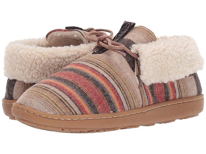 Cabin Fold  Shoes (Acadia Stripe) Women's Slippers