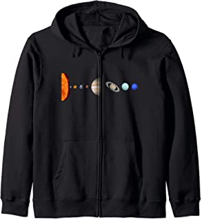 Solar System Sun Earth And Other Solar System Planets Gift Zip Hoodie